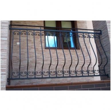 Balkoninis strypelis 20.010.01 12x12 / H950 x L200 3