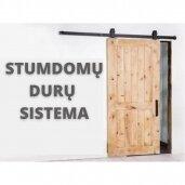 Stumdomų durų sistema